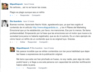 Plagio a Elia Guardiola de La Razón