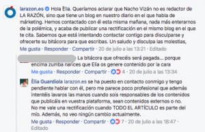 Plagio a Elia Guardiola. La Razón